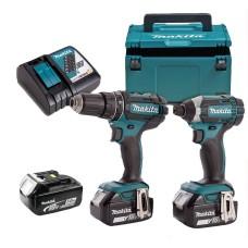 Набір електроінструментів Makita DLX2127TJ1 (DDF482,DTD152,DC18RC,BL1850Bx3,Makpac)