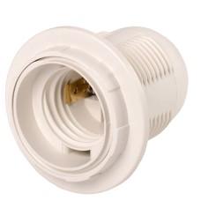Пластиковий патрон IEK Ппл27-04-К12 Е27 білий з кільцем (EPP11-04-02-K01) індивідуальний пакет