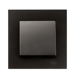 вимикач 1-клавішний Gunsan Eqona чорний