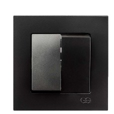 Вимикач 2-клавішний Gunsan Eqona чорний