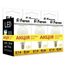 Світлодіодна лампа Feron LB-95 5W E14 2700K 3шт. в упаковці