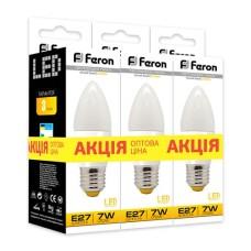 Світлодіодна лампа Feron LB-97 7W E27 2700K 3шт. в упаковці