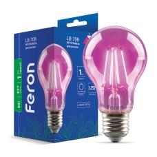Світлодіодна фітолампа Feron LB-708 8W E27