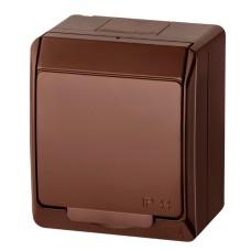 1-клавішний вимикач Elektro-Plast Hermes 0321-06 (коричневий)