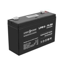 Акумулятор LogicPower AGM LPM 6-14 AH 6В