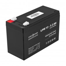 Акумулятор LogicPower AGM LPM 12-7.2 AH