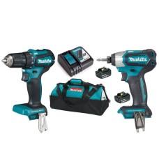 Набір електроінструментів Makita DLX2220 (DTD155, DDF483, DC18RC, BL1830Bx2)