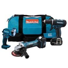 Набір електроінструментів Makita DK1882 (BDF456,BGA452,BML185, DC18RA, BL1830x2)