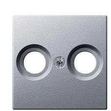 Центральна панель TV розетки антена алюміній Merten, MTN4122-0460