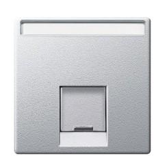 Центральна панель комп'ютерної розетки алюміній Merten, MTN465860
