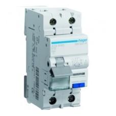 Диференційний автоматичний вимикач Hager AD956J 6 А 1+N,
