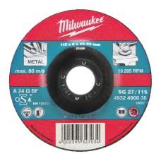 Шліфувальний диск по металу MILWAUKEE 4932490099 SG 27/125х6 (25шт)