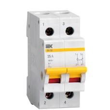 Вимикач навантаження IEK MNV10-2-025 ВН-32 2Р 25А