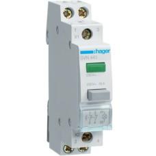 Зелена кнопка з LED з індикатором SVN441 2НC