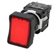 Прямокутна натискна кнопка EMAS D200DDK (1НC) червона