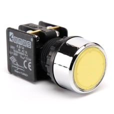 Натискна кнопка EMAS KB14DS (1НО+1НC) жовта