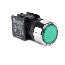Натискна кнопка EMAS KB34DY (1НО) зелена