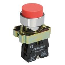 Кнопка керування LAY5-BL42 червона 1р IEK (розмикаючий контакт)