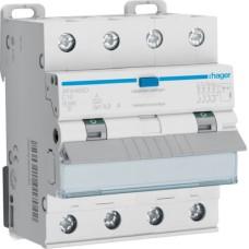 Диференційний автомат Hager AFX460D 4P 10кА C-10A 300мА тип A