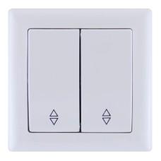 Вимикач 2-клавішний прохідний ВП02-02-0-ББ Bolero, IEK