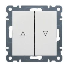 вимикач для жалюзі «Контактор», WL0320 Lumina-2, білий, Hager