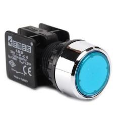 Натискна кнопка EMAS KB34DM (1НО) синя