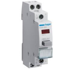 Червона кнопка з LED індикатором SVN452 1НО+1НЗ