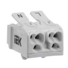 Пружинна сполучна клема IEK UKZ-B06-2P-F1-E0-10 КСПн2-L+N