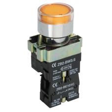 Кнопка LAY5-BW3561 з підсвіткою жовта 1з IEK