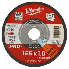 Тонкий відрізний диск по металу MILWAUKEE 4932451487 PRO+ SC41/125