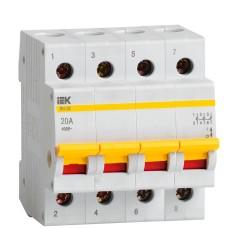 Вимикач навантаження IEK MNV10-4-020 ВН-32 4Р 20А