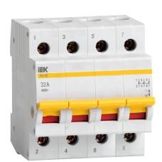 Вимикач навантаження IEK MNV10-4-032 ВН-32 4Р 32А