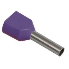 Наконечник-гільза НГИ2 2,5-10 з ізол. фланцем (Фіолетовий) (100 шт)