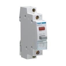 Кнопка для модульного щитка SVN422 1НЗ з червоним LED підсвічуванням