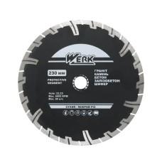 Алмазний диск Werk 230х8х22,2мм