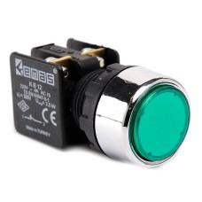 Натискна кнопка EMAS KB12DY (1НC) зелена