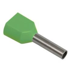 Наконечник-гільза НГИ2 16-14 з ізол. фланцем (зелений) (100 шт)