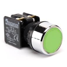 Натискна кнопка EMAS KB14DY (1НО+1НC) зелена