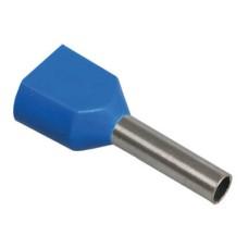 Наконечник-гільза НГИ2 2,5-12 з ізол. фланцем (Синій) (100 шт)