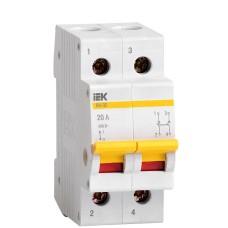 Вимикач навантаження IEK MNV10-2-020 ВН-32 2Р 20А