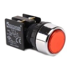 Натискна кнопка EMAS KB14DK (1НО+1НЗ) червона