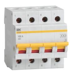 Вимикач навантаження IEK MNV10-4-100 ВН-32 4Р 100А