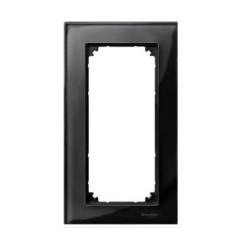 Рамка подвійна M-ELEGANCE glass онікс Merten, MTN404803