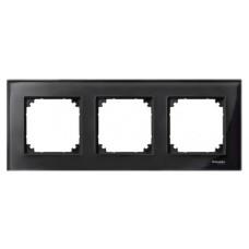 Рамка потрійна M-ELEGANCE glass онікс Merten, MTN404303