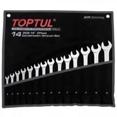 Набір комбінованих ключів 8-24 мм TOPTUL 14 шт. Hi-Performance GPAX1402