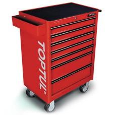 Візок для інструментів на колесах TOPTUL 7 секцій (червоний) TCAA0702