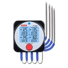 Термометр харчовий електронний 4-х канальний Bluetooth, -40-300°C WINTACT WT308B