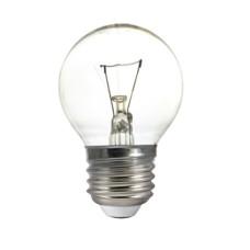 Лампа куля 60Вт Е27 прозора Р45 гофра