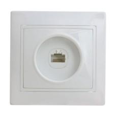 Розетка комп'ютерна біла РВcomсб-1-Fi-W АскоУкрем