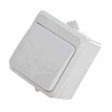 Вимикач накладний одноклавішний білий  В310-1-ІР44 АскоУкрем